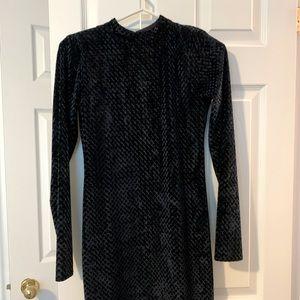 Primark Navy Velour Dress (NEW)